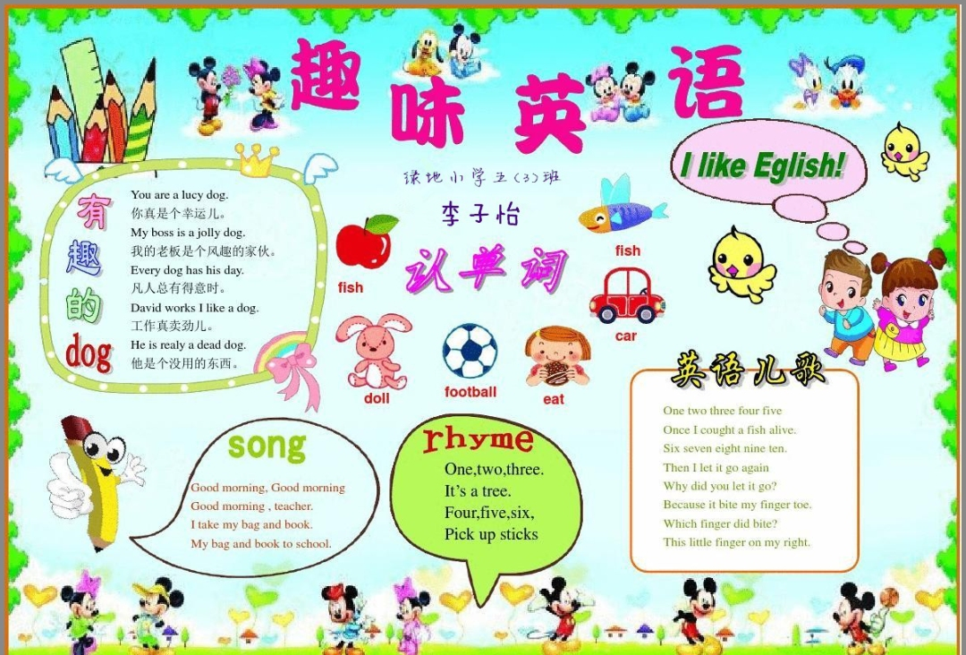 Happy English Happy life!绿地小学英语电子小报竞赛